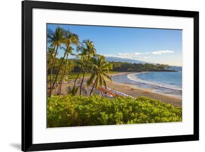 Kaunaoa Beach, Kohala Coast, Island of Hawaii-Douglas Peebles-Framed Premium Photographic Print