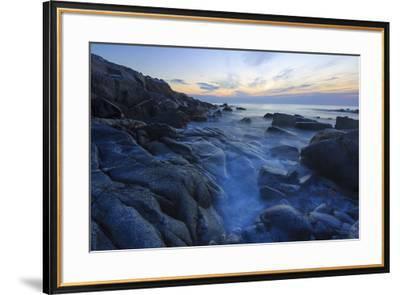 Dawn on Appledore Island, Maine. Isles of Shoals.-John & Lisa Merrill-Framed Premium Photographic Print