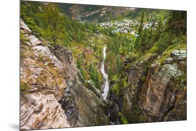 Box Canyon and the town of Ouray, Colorado, USA-Russ Bishop-Mounted Premium Photographic Print
