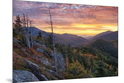 USA, New York State. Sunrise on Mount Baxter in autumn, Adirondack Mountains.-Chris Murray-Mounted Premium Photographic Print