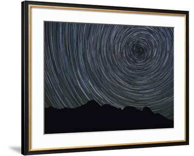 Washington State, Alpine Lakes Wilderness, Ingalls Pass, Star trails around Polaris-John & Lisa Merrill-Framed Photographic Print