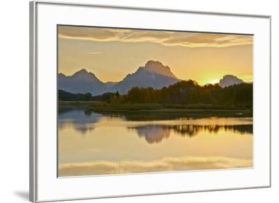 Alpenglow At Sunset, Oxbow, Grand Teton National Park, Wyoming, USA-Michel Hersen-Framed Premium Photographic Print