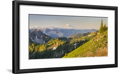 USA. Washington State. Panorama of Mt. Adams, Goat Rocks and Double Peak-Gary Luhm-Framed Photographic Print