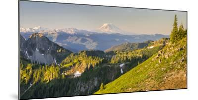 USA. Washington State. Panorama of Mt. Adams, Goat Rocks and Double Peak-Gary Luhm-Mounted Photographic Print