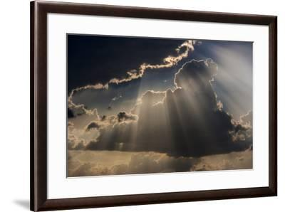 Sun rays and clouds, Togo, Africa-Art Wolfe-Framed Premium Photographic Print