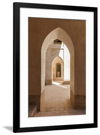 Iran, Natanz, Jameh Mosque, Arches-Walter Bibikow-Framed Premium Photographic Print
