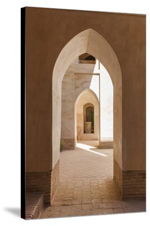 Iran, Natanz, Jameh Mosque, Arches-Walter Bibikow-Stretched Canvas Print