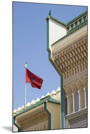Morocco, Fes. Details of the Royal Palace gates with zelij tilework and cut plasterwork.-Brenda Tharp-Mounted Premium Photographic Print