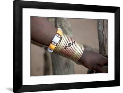 Africa, Ethiopia, South Omo, Hamer tribe. Bracelet detail worn my a Hamer woman.-Ellen Goff-Framed Premium Photographic Print