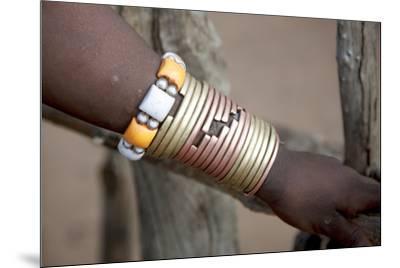 Africa, Ethiopia, South Omo, Hamer tribe. Bracelet detail worn my a Hamer woman.-Ellen Goff-Mounted Premium Photographic Print