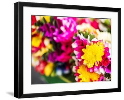 Thailand, Bangkok Street Flower Market. Flowers ready for display.-Terry Eggers-Framed Photographic Print