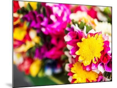 Thailand, Bangkok Street Flower Market. Flowers ready for display.-Terry Eggers-Mounted Photographic Print