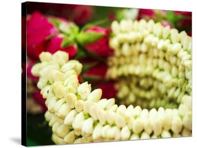 Thailand, Bangkok Street Flower Market. Flowers ready for display.-Terry Eggers-Stretched Canvas Print