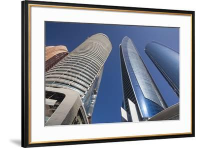 UAE, Abu Dhabi. Etihad Towers-Walter Bibikow-Framed Premium Photographic Print