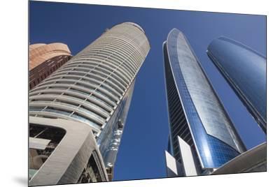 UAE, Abu Dhabi. Etihad Towers-Walter Bibikow-Mounted Premium Photographic Print