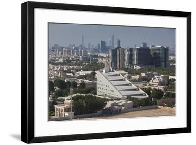UAE, Abu Dhabi. Al Safarat Embassy Area-Walter Bibikow-Framed Premium Photographic Print