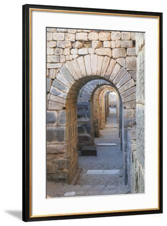 Turkey, Izmir, Bergama, Pergamon. Arches of the sanctuary of Trajan.-Emily Wilson-Framed Premium Photographic Print