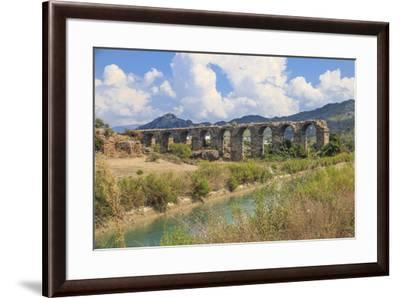 Turkey, Anatolia, Antalya, Aspendos Aqueduct over River Eurmedon.-Emily Wilson-Framed Premium Photographic Print