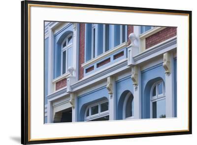New Zealand, North Island, Whanganui. Building detail-Walter Bibikow-Framed Premium Photographic Print