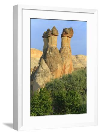 Turkey, Anatolia, Cappadocia, Goreme. 'Fairy Chimneys' in Red Valley.-Emily Wilson-Framed Premium Photographic Print