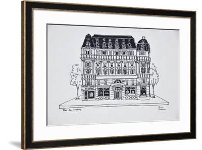 Typical Haussmann architecture on Rue du Louvre, Paris, France-Richard Lawrence-Framed Premium Photographic Print