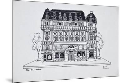 Typical Haussmann architecture on Rue du Louvre, Paris, France-Richard Lawrence-Mounted Premium Photographic Print
