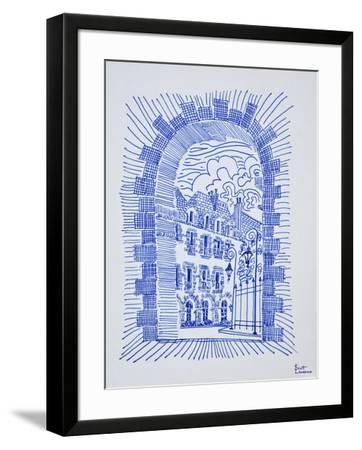 Place des Vosges, Marais, Paris, France-Richard Lawrence-Framed Photographic Print