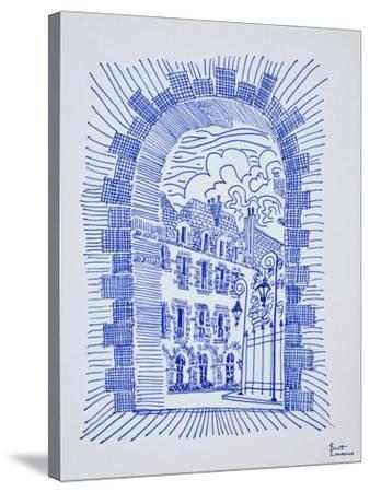 Place des Vosges, Marais, Paris, France-Richard Lawrence-Stretched Canvas Print
