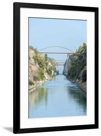 Corinth Canal, Greece, Europe-Jim Engelbrecht-Framed Premium Photographic Print