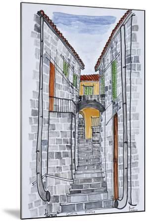 Narrow streets with 16th century F286buildings, Sartene, Corsica, France-Richard Lawrence-Mounted Premium Photographic Print