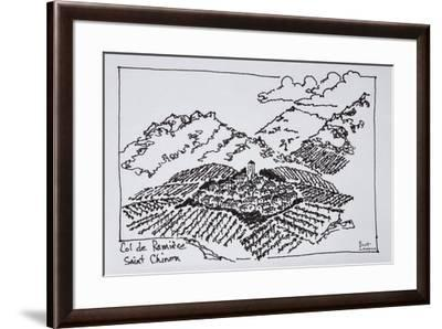 Vineyards in the Col de la Ramiere, Saint-Chinian, Languedoc region, Southern France-Richard Lawrence-Framed Premium Photographic Print