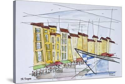 Cubist waterfront abstract, Saint-Tropez, French Riviera, France-Richard Lawrence-Stretched Canvas Print