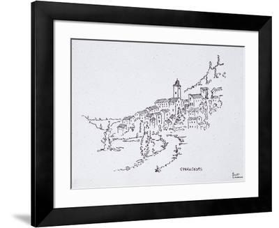 Village of Speracedes Provence, France-Richard Lawrence-Framed Photographic Print