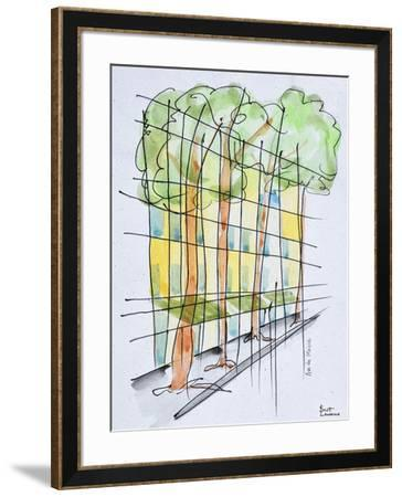 Abstract Parisian street, Paris, France-Richard Lawrence-Framed Photographic Print