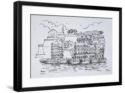 Fortified port of Bastia, Corsica, France-Richard Lawrence-Framed Premium Photographic Print