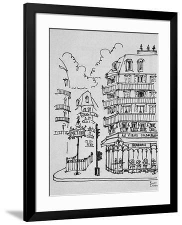 Famous Au Vieux Colombier on Boulevard Raspail, Paris, France-Richard Lawrence-Framed Photographic Print