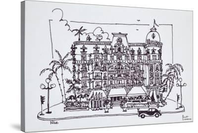 The Hotel Negresco located on the English Promenade, Nice, France-Richard Lawrence-Stretched Canvas Print