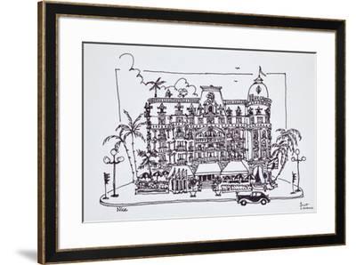 The Hotel Negresco located on the English Promenade, Nice, France-Richard Lawrence-Framed Premium Photographic Print