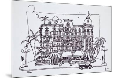 The Hotel Negresco located on the English Promenade, Nice, France-Richard Lawrence-Mounted Premium Photographic Print