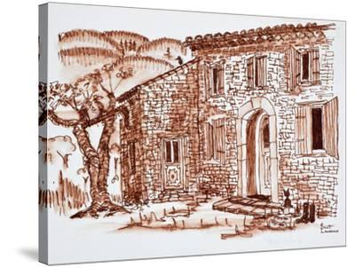 A farmhouse, Grasse, Provence, France.-Richard Lawrence-Stretched Canvas Print