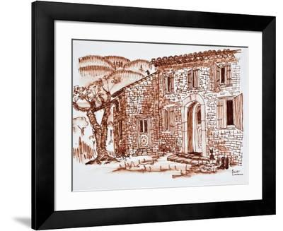 A farmhouse, Grasse, Provence, France.-Richard Lawrence-Framed Photographic Print