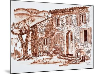 A farmhouse, Grasse, Provence, France.-Richard Lawrence-Mounted Photographic Print