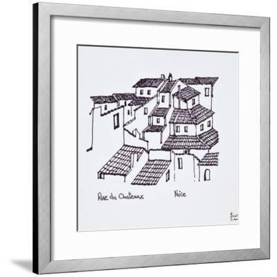 Rooftops of the old city along Rue de Chateaux, Nice, France-Richard Lawrence-Framed Photographic Print