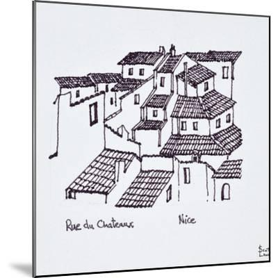 Rooftops of the old city along Rue de Chateaux, Nice, France-Richard Lawrence-Mounted Photographic Print