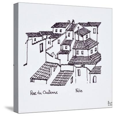 Rooftops of the old city along Rue de Chateaux, Nice, France-Richard Lawrence-Stretched Canvas Print
