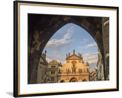 Czech Republic, Prague. St. Salvator Church near the Charles bridge at dusk.-Julie Eggers-Framed Photographic Print