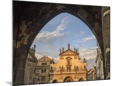 Czech Republic, Prague. St. Salvator Church near the Charles bridge at dusk.-Julie Eggers-Mounted Photographic Print