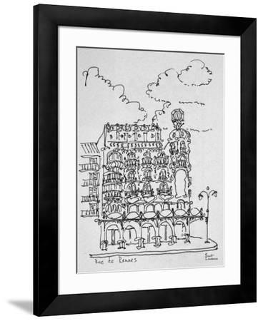 Traditional Haussmann building on Rue de Rennes, Paris, France-Richard Lawrence-Framed Photographic Print