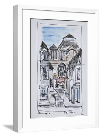 Old church of Concarneau along Rue Turenne, Brittany, France-Richard Lawrence-Framed Premium Photographic Print