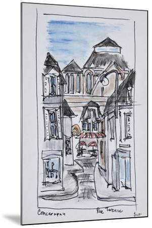 Old church of Concarneau along Rue Turenne, Brittany, France-Richard Lawrence-Mounted Premium Photographic Print